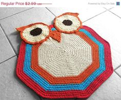 PATTERN Crochet Owl Accent Rug Nursery by WhisperedWhimsy on Etsy, $2.24
