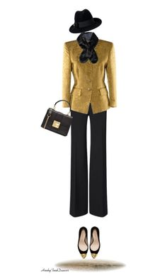 """Black And Gold"" by honkytonkdancer ❤ liked on Polyvore featuring Roland Mouret, Rena Lange, Zara, Sonia Rykiel, Gucci and blackandgold"