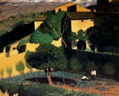 Felix Vallotton (Swiss 1865-1925) Landscape in Cagnes (1923)