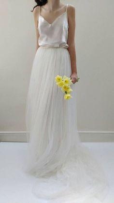 3ff392bc0756 47 Elegant Tulle Skirt Wedding Gown Ideas