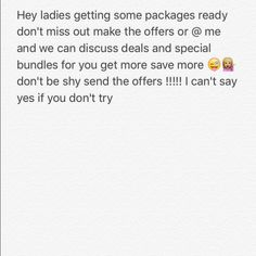 Offers !!! Send them in Getting packages ready for shipment tomorrow don't be shy send them offers get your packages asapppppp ! PINK Victoria's Secret Bags Shoulder Bags