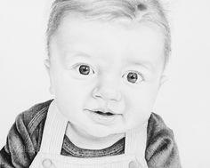 William | Melissa Helene Fine Arts + Photography 8x10 graphite portrait www.melissahelene.com #portrait #drawing #artwork #graphite #baby #blackandwhite