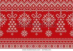 Descubra Winter Holiday Seamless Knitting Pattern Christmas imágenes de stock en HD y millones de otras fotos, ilustraciones y vectores en stock libres de regalías en la colección de Shutterstock.  Se agregan miles de imágenes nuevas de alta calidad todos los días. Knitting Charts, Baby Knitting Patterns, Knitting Stitches, Crochet Patterns, Crochet Ideas, Christmas Stockings, Christmas Sweaters, Fair Isle Chart, Fair Isles