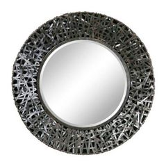 Alita Crackle Round Mirror - 36 diam. in. - 11587 B