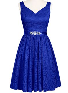 New Stock Chiffon Lace Short Prom Party Evening Gowns Wedding Bridesmaid Dresses Blue Evening Dresses, Prom Dresses Blue, Trendy Dresses, Formal Dresses, Prom Gowns, Ball Dresses, Cheap Dresses, Short Dresses, Fashion Dresses