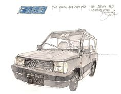 Fiat Panda 4x4 Fiat Panda, Urban Sketching, 4x4, Vehicles, Sketch, Rolling Stock, Vehicle, Urban Sketchers