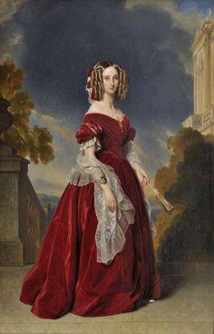 Marie-Louise, the first Queen of the Belgians, Franz Xaver Winterhalter, 1841