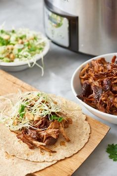 Recipe: Slow-Cooked Hoisin and Ginger Pork Wraps with Peanut Slaw | Kitchn