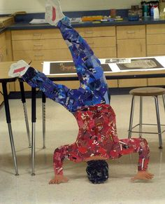 MS/HS Lesson Plan: Moveable Murals -Life size collage portraits (Must do!!)