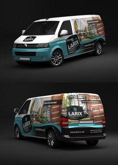 Larix VW T5 - Car Wrap by rados-adv.deviantart.com on @DeviantArt