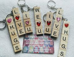 Scrabble Letter Crafts, Scrabble Tile Art, Button Art, Key Fobs, Key Chains, Matilda, Handmade Crafts, Key Rings, Charms