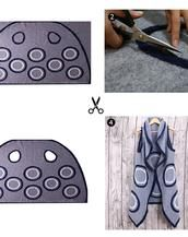 Handmade circle pattern pure wool cape