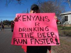 hahahahaha... Prob... one of the funniest running signs I have seen! =D