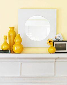 Spring/Summer Mantel Decorating Ideas - Fireplace Mantel Decor - House Beautiful
