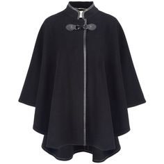 Windsmoor Classic black cape (€180) ❤ liked on Polyvore featuring outerwear, jackets, cape, coats, cloak, black, women, windsmoor, cloak cape and cape coat