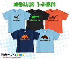 Personalized dinosaur birthday invitations, printable dinosaur invitations. $15.00, via Etsy.