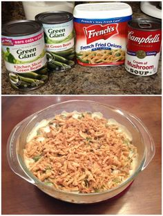 Easiest green bean casserole ever. I added mushrooms and a splash of soy sauce.