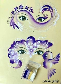 More ontwerpen. Dat maakt het extra leuk More designs. I also have this spind cake. That makes it extra fun Girl Face Painting, Face Painting Tips, Face Painting Tutorials, Face Painting Designs, Paint Designs, Cake Designs, Eye Art, Fantasy Makeup, Painting Inspiration