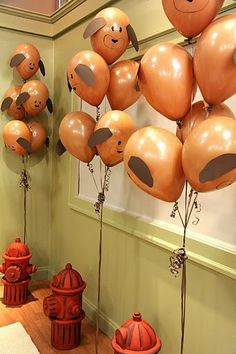 More inspiration for baby dear's puppy themed birthday party request!
