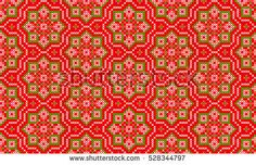 Islamic, Moroccan,Arab,Turkish Seamless Abstract Pattern. Embroidered Handmade Ethnic Ornament Handmade from Stitches for Textile Design, Greeting Cards, Background, Invitations, Wrapping, Wallpaper.