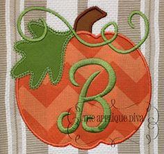 Fall Thanksgiving Great Pumpkin Digital Embroidery Design Machine Applique. $2.99, via Etsy.