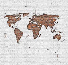 Graham brown digitaal behang 6 baans dublin city chic picture worldmap brick gumiabroncs Image collections