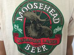 Vintage Moosehead Beer T Shirt Hanes Poly Cotton Blend USA Made New Old Stock #Hanes #TShirt