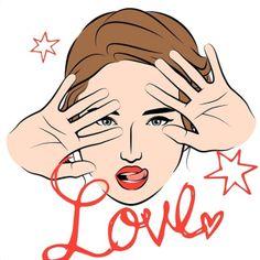 L O V E #mineportraitapp #mine #portrait #app #me #face #fashion #girl #cute #red #love #hands #celebrity