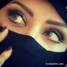 DPs of Stylish, Hiding Face, Hijabi Muslim Girl With Niqab Beautiful Girl Image, Beautiful Hijab, Gorgeous Eyes, Pretty Eyes, Cool Eyes, Amazing Eyes, Beautiful Pictures, Eye Pictures, Girly Pictures