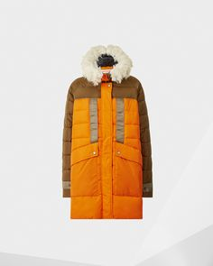 Womens Brown Astro Parka   Official Hunter Boots Site