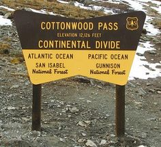Cottonwood Pass is officially CLOSED for the winter! Crested Butte Colorado
