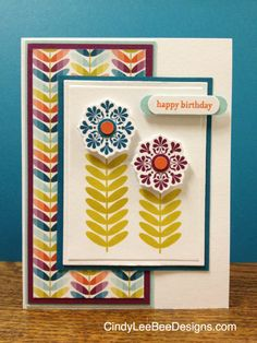 Madison Ave, Teeny Tiny Wishes Birthday Woman, Happy Birthday, Sycamore Street, Bee Design, Madison Avenue, Color Card, Stampin Up Cards, Cardmaking, Birthday Cards