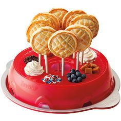All the amazing flavor of pie in the easy-to-carry package of a lollipop. Special molds cut crust to the perfect dimensions. Fill them with fruit, chocolate, Nutella, cooked meatstuff, whatever you want, add a stick, then bake. NOM.$24.95