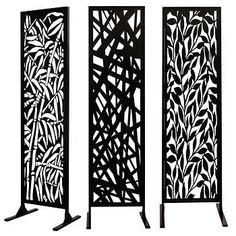 Garden & Patio Privacy Screen - - Garden & Patio Privacy Screen Contains One Steel ConstructionBlack Powder-coated, UV and Weather-resistant FinishSturdy, Extra-length Feet For Maximum StabilityAssembly Required. Wisteria Trellis, Balcony Privacy Screen, Privacy Walls, Privacy Fences, Fencing, Trellis Design, Fence Design, Diy Patio, Backyard Patio