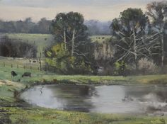 ORIGINAL OIL PAINTING DEPICTING VIEW FROM MY BACK YARD