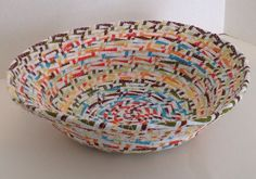 A personal favorite from my Etsy shop https://www.etsy.com/listing/466037774/fabric-pottery-coiled-fabric-bowl-basket