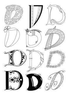 """Lettering """"D"""""""