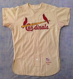 eb601aef633 1957 St. Louis Cardinals Larry Jackson Game Worn Flannel Jersey All  Original St Louis Cardinals