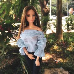 Image may contain: 2 people, people standing, tree and outdoor Barbie Room, Doll Clothes Barbie, Barbie Stuff, Fashion Royalty Dolls, Fashion Dolls, Baby Lehenga, Look 2017, Barbie Model, Beautiful Barbie Dolls