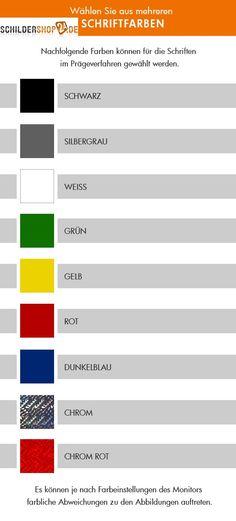 Farben für LKW Namenschilder mit Prägung