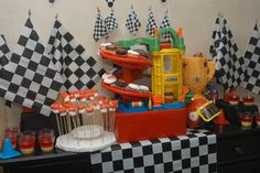 Kids car ramp for cupcake display for Cars Party