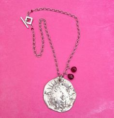 """""""Moon Child"""" necklace by My Peace And Love #rubies #sterlingsilver #bohemian #gypsy #necklaces #handmade"""