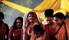 rainy wedding scene from the popular Indian movie monsoon wedding