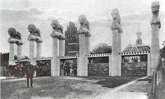 Das Löwentor auf der Darmstädter Mathildenhöhe, 1914