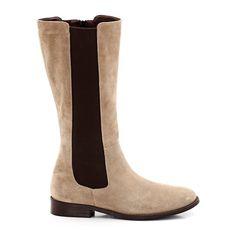 9cbe84884 Image Suede Boots, SLIM CALF FITTING LAURA CLEMENT Cano Alto, Pernas,  Bezerros Magros