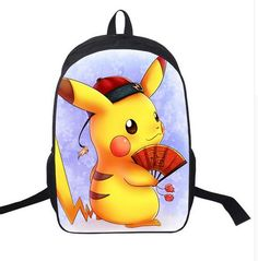 953c002e8d 16 Inch Anime Pokemon Ball Daily Backpack Boys Girls School Bags Pikachu  Backpack For Teenagers Kids Backpacks Mochila