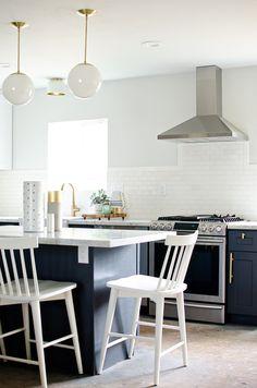 navy, white & brass kitchen // brittanyMakes Kitchen Reveal