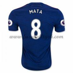Premier League Fussball Trikots Manchester United 2016-17 Mata 8 Auswärtstrikot Kurzarm