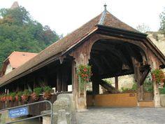 Pont de Berne, Fribourg Berne, Covered Bridges, Cabin, House Styles, World, Home Decor, Bridge, Decoration Home, Covered Decks