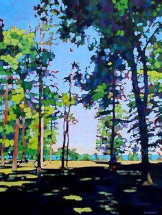 """Wildwood Park iii"" 48""h x 36""w Acrylic on Canvas by John Lightfoot. Available at the Crescent Hill Gallery in Mississauga ON."